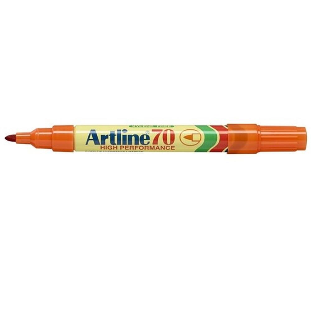 ARTLINE 70 PERMANENT MARKERS Med Bullet Orange - Box of 12