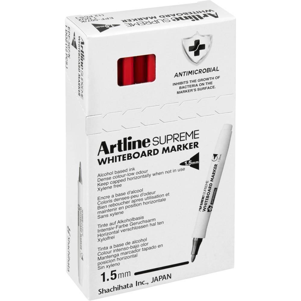 Artline Supreme Whiteboard Marker Bullet 1.5mm Red