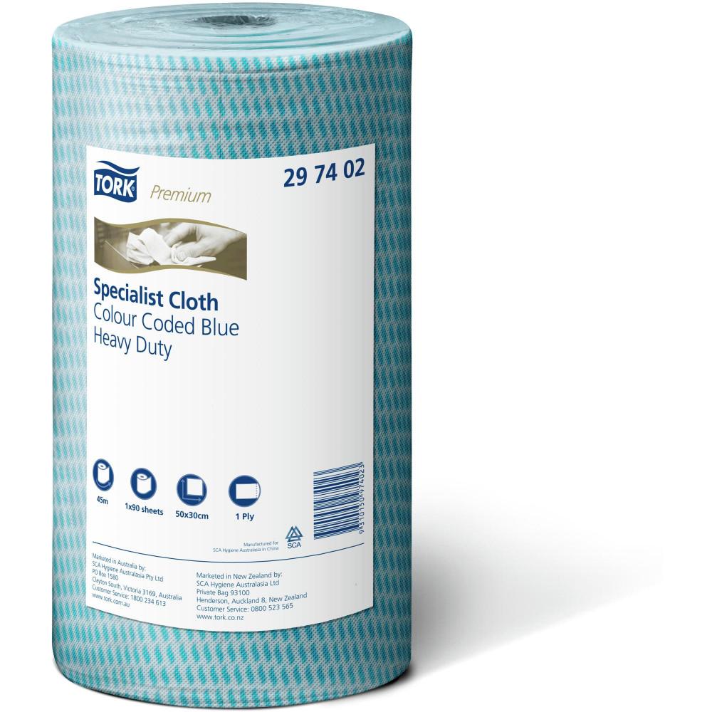 Tork Heavy Duty Cleaning Cloths Blue Carton of 4