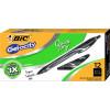 BIC Gelocity Gel Pen Retractable 0.7mm Medium Black Pack of 12