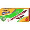 BIC Gelocity Gel Pen Retractable 0.7mm Medium Red Pack of 12