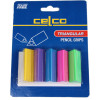 CELCO PENCIL GRIPS CARD 5 Assorted Colours Pk5