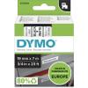 DYMO D1 LABEL CASSETTE TAPE 19mm x 7M Black on White