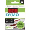 DYMO D1 LABEL CASSETTE TAPE 19mm x 7M Black on Red