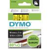 DYMO D1 LABEL CASSETTE TAPE 19mm x 7M Black on Yellow