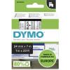 DYMO D1 LABEL CASSETTE TAPE 24mm x 7M Black on Clear