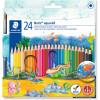 STAEDTLER AQUARELL PENCILS Noris Club Asst Colours Pk24