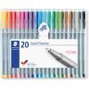 STAEDTLER TRIPLUS 334 Fineliner Assorted Colours Pack of 20