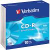VERBATIM RECORDABLE CD'S CD-R 80Min 52X Slim Case Pk10