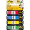 POST-IT 683-4 MINI FLAGS 9.9x43.7mm Red Blue Yellow Green Pack of 140