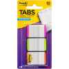 POST-IT DURABLE TABS 25x38mmWhite/Pink,Green,Orange Pack of 66