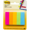 POST-IT 670-5AN PAGE MARKERS Neon 500 Asstd 13x44mm Pack of 5