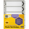MARBIG BLACK & WHITE DIVIDERS A4 1-5 Reinf Tab Board Includes 5 Tabs