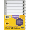MARBIG BLACK & WHITE DIVIDERS A4 1-10 Reinf Tab Board Includes 10 Tabs