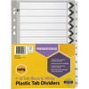 MARBIG BLACK & WHITE DIVIDERS A4 1-12 Reinf Tab Board Includes 12 Tabs
