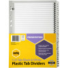 MARBIG BLACK & WHITE DIVIDERS A4 1-31 Reinf Tab Board Includes 31 tabs