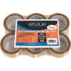 VIBAC PP30R PACKAGING TAPE Clear 48mmx75m Pack of 6