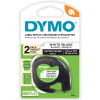 DYMO LETRATAG LABELLING TAPE Paper 12mmx4m -Peal White