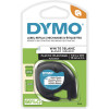 DYMO LETRATAG LABEL CASSETTE 12mmx4m -Pearl White
