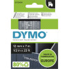 DYMO D1 LABEL CASSETTE 12mmx7m -White on Clear