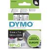 DYMO D1 LABEL CASSETTE 9mmx7m -Black on Clear