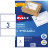 AVERY L7155 MAILING LABELS Laser 3 UP 200.7 x 93.1mm Box of 100