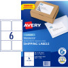 AVERY L7166 MAILING LABELS Laser 6 UP 99.1 x 93.1mm Box of 100
