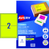 AVERY L7168FY LASER LABELS 2UP 199.6x43.5mm Yellow Pack of 10