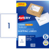 AVERY INTERNET SHIPPING LABELS L7167 1L/P/Sht 199.6x289.1mm Pack of 10