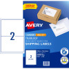 AVERY INTERNET SHIPPING LABELS L7168 2L/P/Sht 199.6x143.5mm Pack of 20