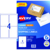 AVERY INTERNET SHIPPING LABELS L7169 4L/P/Sht 99.1x139mm Pack of 40