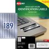 AVERY L6008 DURABLE H/D LABEL Laser 189/Sht 25.4x10 Slvr Met Pack of 3780