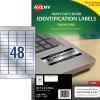 AVERY L6009 DURABLE H/D LABEL Laser 48/Sht 45.7x21 Slvr Met Pack of 960