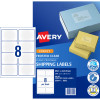 AVERY J8565 QUICK PEEL LABEL IJet 8/Sht 99.1x67.7 Parcel Cl Pack of 200