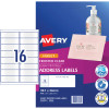 AVERY J8562 QUICK PEEL LABEL I/Jet 16/Sht 99.1x34 Add Clear Pack of 400