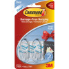 COMMAND CLEAR SMALL HOOK Pack of 2