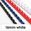REXEL BINDING COMB 16mm 21Loop 145Sht Cap White Pack of 100