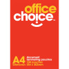 Office Choice Laminating Pouches A4 125 micron Box of 100