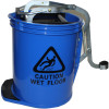 CLEANLINK H/DUTY MOP BUCKET Metal Wringer 16 Litre Blue