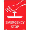 SAFETY SIGNAGE - EMERGENCY Emergency Stop (Picture) 450mmx600mm Polypropylene