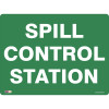 SAFETY SIGNAGE - EMERGENCY Spill Control Station 450mmx600mm Metal