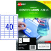 Avery 959230 No Peel Industrial Labels White L6145