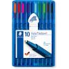 STAEDTLER TRIPLUS WALLET 437 Xbsb10 Ballpoint Pen Assorted Pack of 10