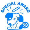DESKMATE MERIT STAMP Special Award Blue