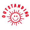DESKMATE MERIT STAMP Outstanding Red