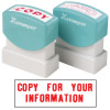 XSTAMPER -1 COLOUR -TITLES A-C 1069 Copy For Your Info Red