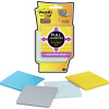 POST-IT SUPER STICKY NOTES F330-4SSAL FAN Pastel 76x76mm Lined, 4 Pads, 25 Sheets Each