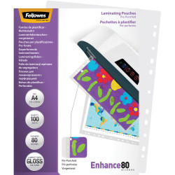 Fellowes Imagelast Laminating Pouch A4 80 Micron Pre-Punched Pack of 100