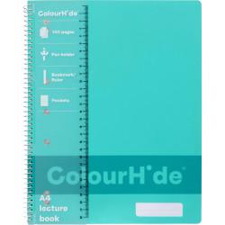 COLOURHIDE NOTEBOOK A4 Lecture 140 Page Aqua