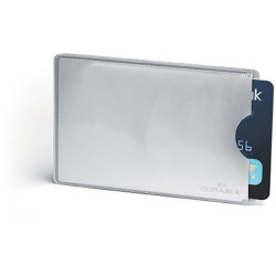Durable Card Holder Sleeve RFID SECURE Opaque Pack Of 10